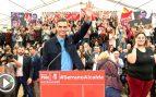 Pedro Sánchez este domingo en la presentación del candidato del PSOE a la Alcaldía de Murcia (Foto: EFE).