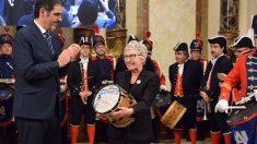 La activista y portavoz de la plataforma Stop Desahucios Rosa García ha recibido el Tambor de Oro 2019 en San Sebastián. Foto: Europa Press