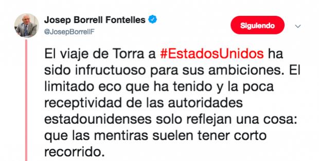 Las posturas antiseparatistas le pasan factura a Borrell: pierde el apoyo de Ferraz