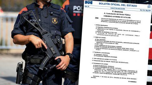 El Gobierno autoriza a los Mossos a comprar armas de guerra