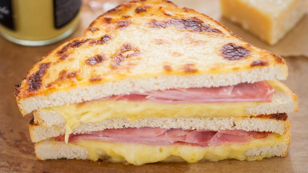 Receta de Sándwich de jamón y queso con mostaza