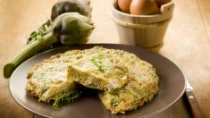 Receta de Tortilla de alcachofas y jamón