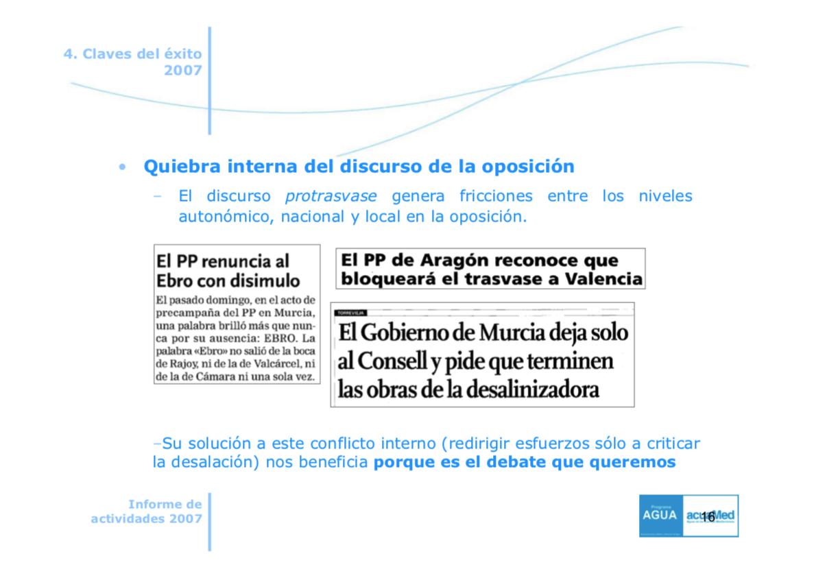 Narbona cargó a Acuamed una campaña de publicidad de 7 millones para