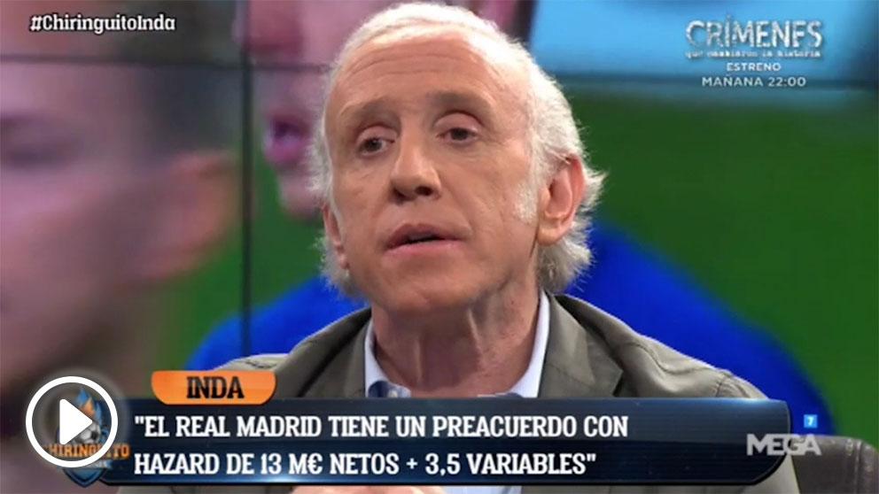 Eduardo Inda adelantó en exclusiva los detalles del contrato que firmará Hazard con el Real Madrid.