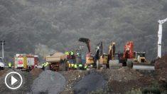 El operativo de rescate de Julen en Totalán. Foto: Europa Press