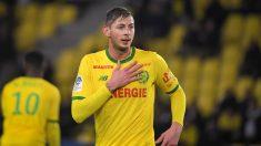 Emiliano Sala, en un partido con el Nantes. (AFP)