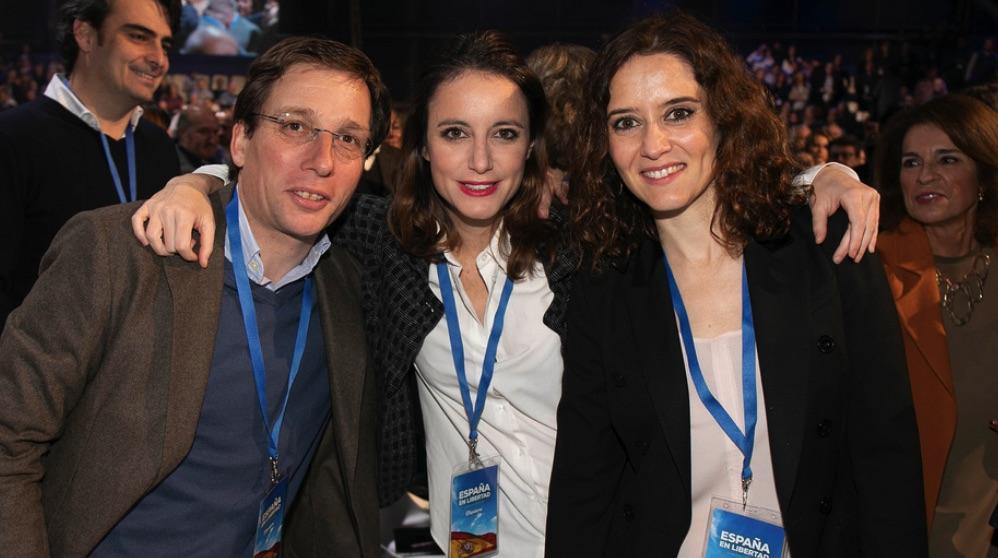 Andrea Levy, Isabel Díaz Ayuso y José Luis Martínez-Almeida. (Foto: PP)