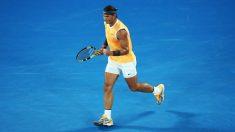 Nadal celebra un punto en el Open de Australia. (Getty)
