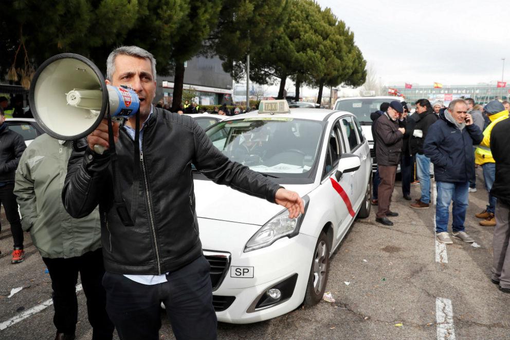 Taxistas protestan en Madrid