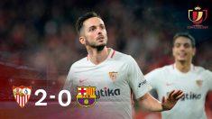 Sarabia abrió el marcador y el Sevilla consiguió una gran renta para la vuelta de cuartos de Copa.