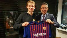 El Barcelona ha anunciado el fichaje de De Jong. (FCBarcelona)