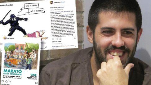 Adrià Salas,cantante de La Pegatina compositor de la canción que representará a España, también es independentista