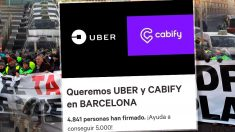 Los barceloneses recogen 5.000 firmas en Change.org para que las VTC, Cabify y Uber, sigan funcionando en la Ciudad Condal.