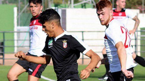 Hamza Abdel Lah Hamed, jugador del Ceuta. (@AdCeuta)