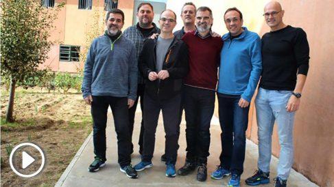 Golpistas catalanes en la prisión de Lledoners.