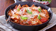 Receta de Macarrones con tomate y verduras