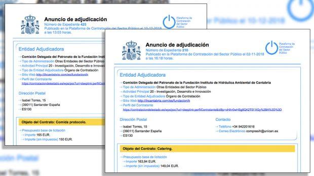 El rector de la Universidad de Cantabria pagó con dinero público un desayuno en una marisquería de lujo