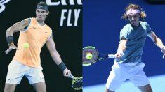 Rafa Nadal se mide a Stefanos Tsitsipas por una plaza en la final del Open de Australia 2019.
