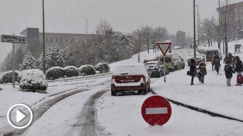 Carreteras afectadas por la nieve