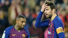 Gerard Piqué, en el Sevilla – Barcelona. (AFP)