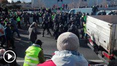 policia-carga-taxistas-m-40-madrid-taxistas