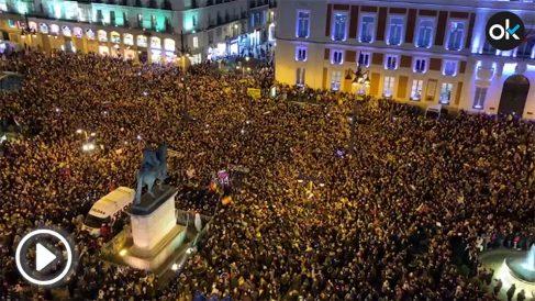 Manifestaciones contra Nicolás Maduro en la Puerta del Sol.