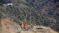 Exterior del pozo de Totalán en el que cayó Julen. Foto: Europa Press
