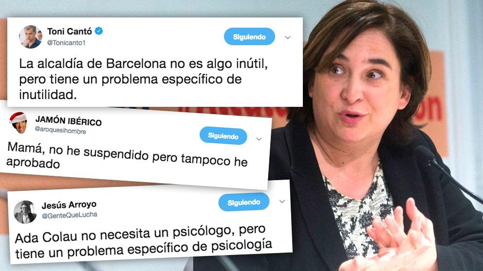 La alcaldesa de Barcelona, Ada Colau, y los tuits que ridiculizan su contradicción: «Barcelona no es una ciudad insegura, pero tiene un problema de seguridad específico».