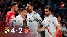 El Real Madrid venció (4-2) al Girona en la ida de los cuartos de la Copa del Rey.