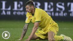 Emiliano Sala durante un partido con el Nantes. (AFP)