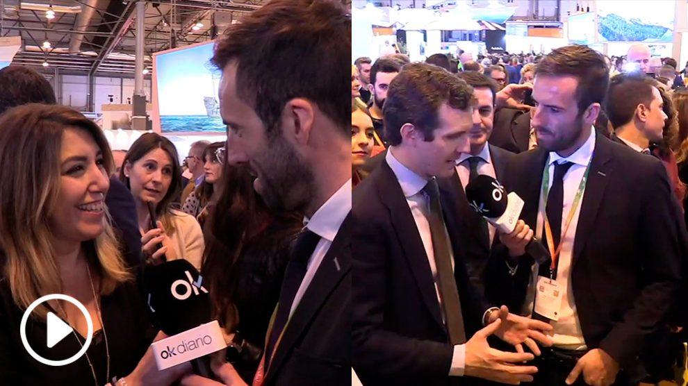 Susana Día y Pablo Casado con el periodista Ojeda en FITUR.
