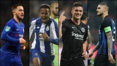Hazard, Militao, Jovic e Icardi.
