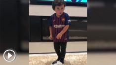 Mateo, hijo de Leo Messi.