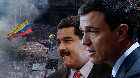 Nicolás Maduro y Pedro Sánchez