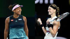 Osaka y Kvitova, finalistas del Open de Australia. (Getty)