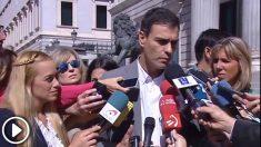 Pedro Sánchez en septiembre de 2015: «Condeno de manera rotunda la destrucción de las libertades democráticas que se están produciendo en Venezuela»