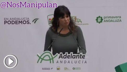 """Teresa Rodríguez hace unos meses se inventó los conceptos de """"matria"""" y """"matriotismo"""" (Vídeo: '@nosmanipulan')"""