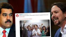 Nicolás Maduro, Pablo Iglesias y el tuit del partido del dictador venezolano