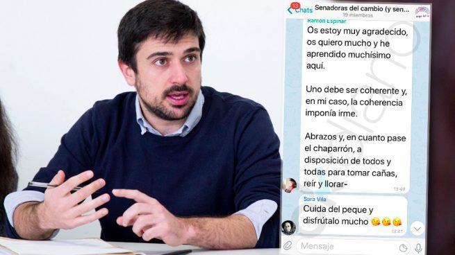 «La coherencia imponía irme»: OKDIARIO accede al adiós de Espinar a sus compañeros en Telegram