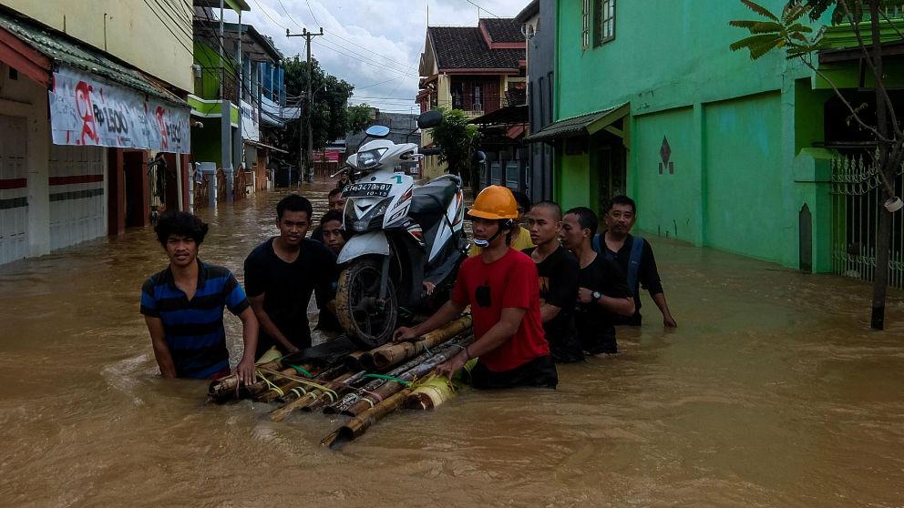 Consecuencias de las inundaciones en Indonesia. Foto: Europa Press
