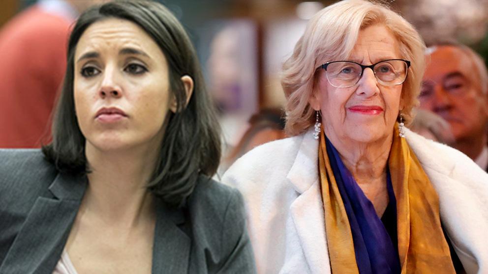 Irene Montero y Manuela Carmena.