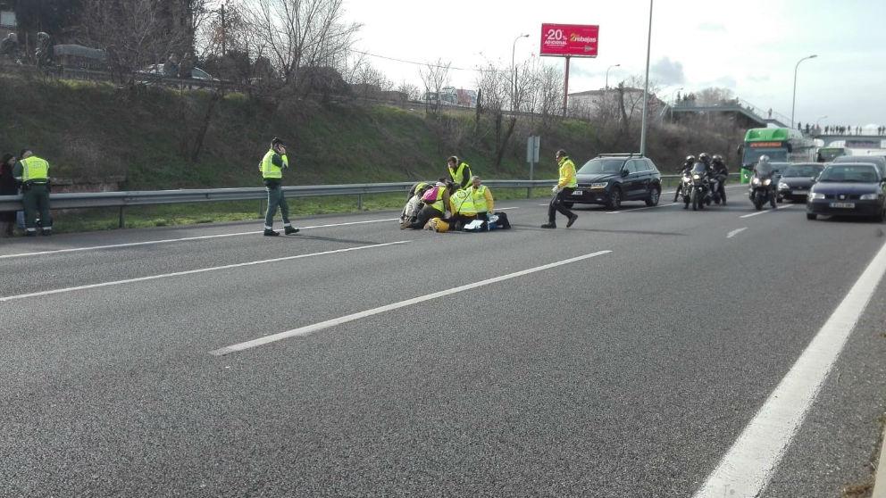 Taxista arrollado por un VTC. Foto: Europa Press