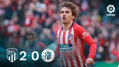 El Atlético se impuso al Getafe en el Wanda.
