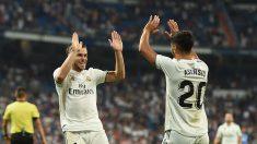 Gareth Bale y Marco Asensio celebran un gol con el Real Madrid. (Getty)