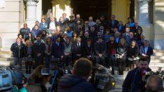 Minuto de silencio por Julen en el Ayuntamiento de Málaga. (EFE)
