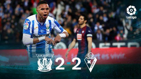 Leganés y Eibar se repartieron los puntos en Butarque.