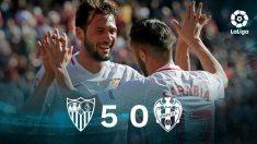 Sevilla – Levante: resultado del partido de la jornada 21 de la Liga Santander.