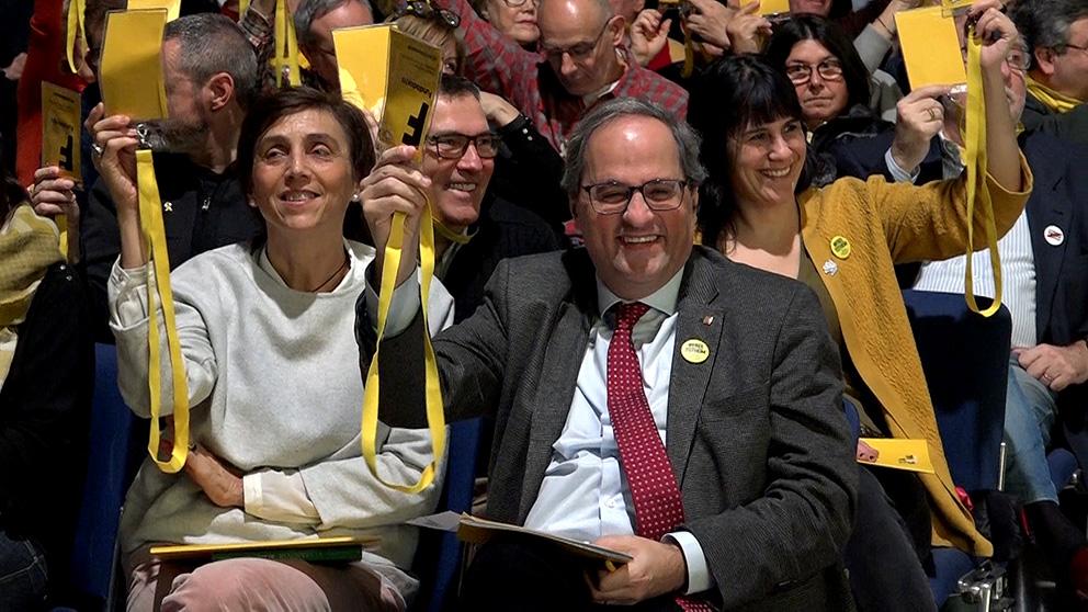 Quim Torra, en el Congrés Consituent de la Crida. (Foto: Enrique Falcón)