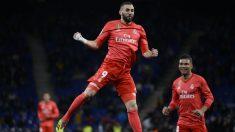 Karim Benzema se reivindicó con un doblete. (AFP)