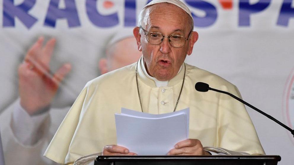 El Papa Francisco durante su intervención en la JMJ de Panamá. Foto: AFP